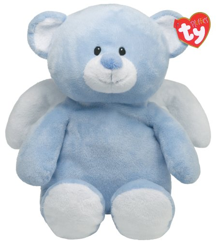 Ty Pluffies Little Angel - Blue Bear back-1045101