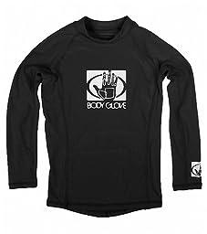 Body Glove Mens Basic Rashguard, Black, Medium
