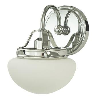 Allen roth bostonian chrome bathroom vanity light for Amazon bathroom vanity lights