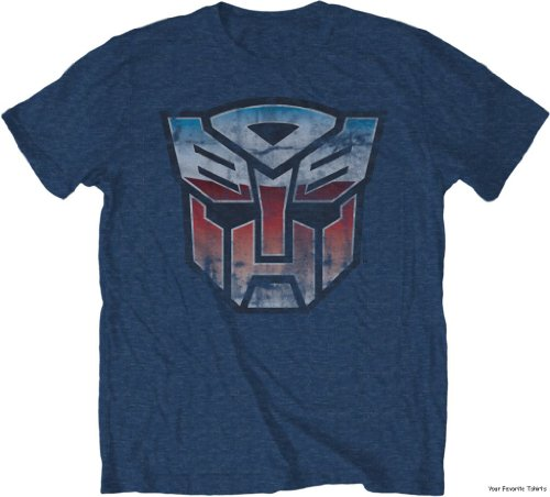 Official Transformers Distressed Autobot Logo Adult T-Shirt