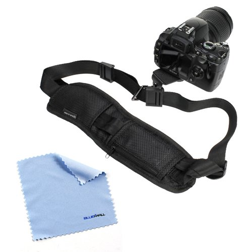 Birugear Black Dslr Camera Neck/Shoulder Belt Strap With Quick Setup Plate For Canon, Nikon, Sony, Olympus, Fujifilm, Panasonic, Pentax Slr Dslr Cameras *With Cleaning Cloth*