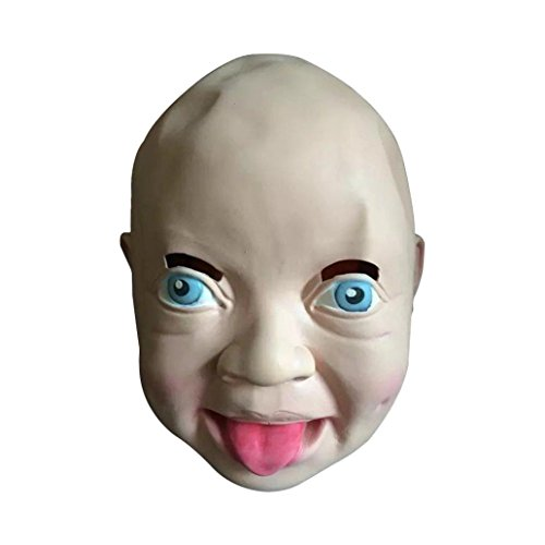 [Koolee Nature Latex Halloween Mask, Party Costume Cute Human Smiling Face Mask] (Jeepers Creepers 2 Costume)