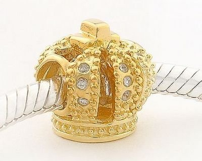 General Gifts 18K Gold On 925 Sterling Silver European Style