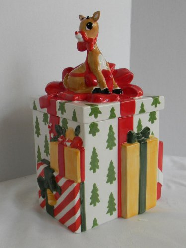 Rudolph the Red Nosed Reindeer Lenox Cookie Jar