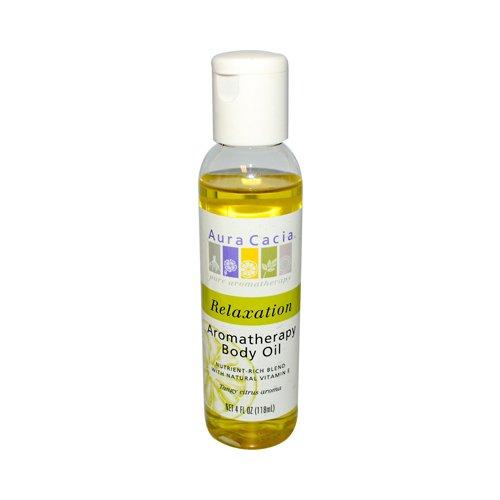 New - Aura Cacia Aromatherapy Body Oil - Relaxation - Tangy Citrus Aroma - 4 fl oz