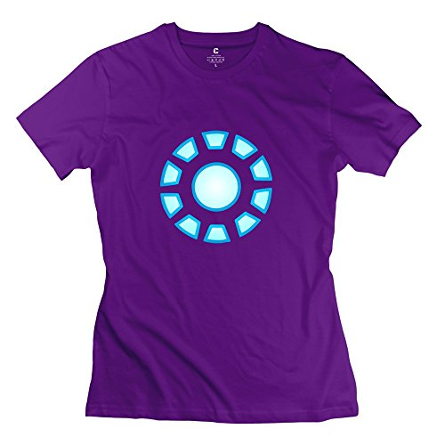 Iron Man Reactor Arc Women's Funny Short Sleeve Tee Size S Purple (Iron Man 2 Ps3 compare prices)