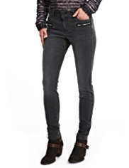 Indigo Collection Skinny Fit Biker Jeans