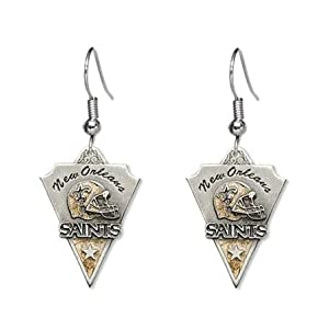 New Orleans Saints Dangle Earrings - NFL Football Fan Shop Sports Team Merchandise