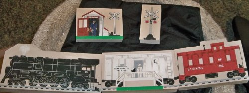 The Cat's Meow 1995 Lionel Train Series (5 Pc Set) Signed by Faline, Licensed by Lionel OOP, Rare, Retired