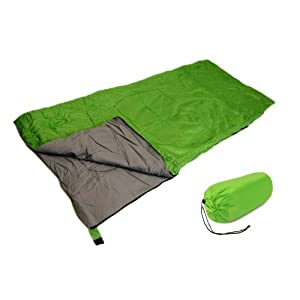 SLEEPING BAG - GRASS GREEN - STAY WARM CAMPING GEAR NEW