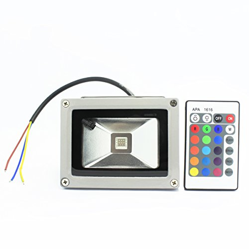 Amerlighttm 10W Rgb Waterproof Led Floodlight Landscape Lamp Color Changing With Remote Controller