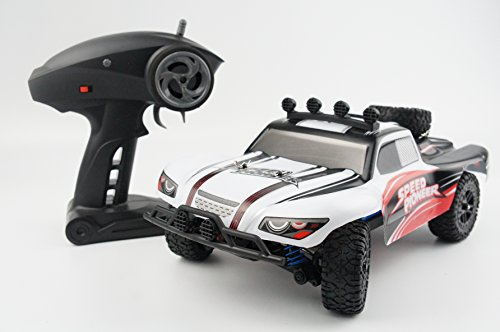 Novcolxya Model Electric RC Racing Car 1/18 Scale Offroad 2.4Ghz Radio Remote control 4WD High Speed 30MPH Remote Controlled Best Christmas Gift(Color:White) (Fast Power Wheels For Boys 5 Up compare prices)
