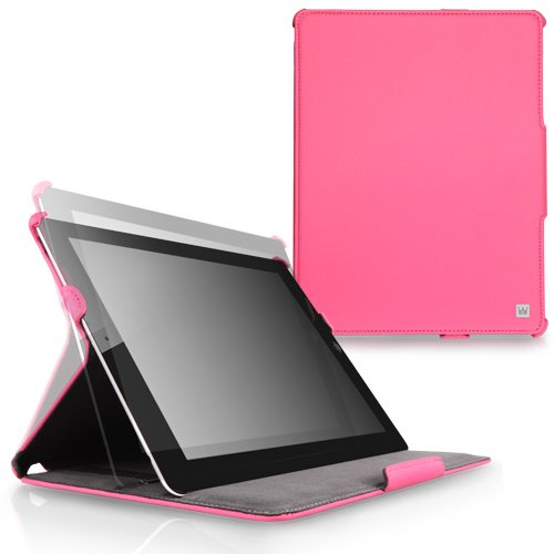 CaseCrown Ace Flip Case (Hot Pink) for iPad 4th Generation with Retina Display, iPad 3 & iPad 2 (Built-in magnet for sleep / wake feature)
