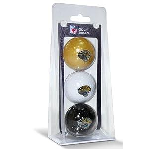 NFL Jacksonville Jaguars 3-Pack Golf Balls