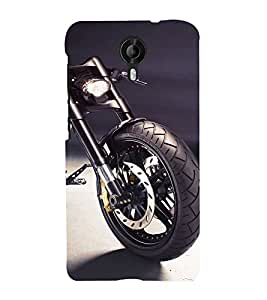 99Sublimation Bike on a road 3D Hard Polycarbonate Back Case Cover for Micromax Canvas Nitro 4G E455