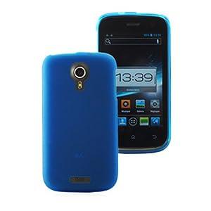 Mocca Design Gel Frost Housse en silicone pour Wiko Cink Five Bleu