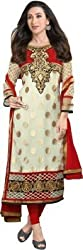 BDS Georgette Embroidered Semi-stitched Salwar Suit Dupatta Material