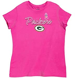 Green Bay Packers Pink Splash Women's Breast Cancer Awareness T-Shirt from VF Imagewear