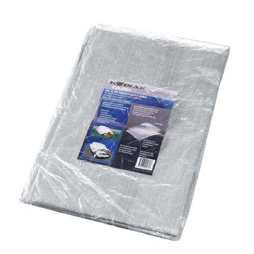 Kodiak Tarps Grey 16' x 20' Tarp Cover Patio or Yard Canopy For Shade or Weather! Heavy Duty at an Affordable Price!