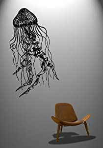 Vinyl Wall Decal Sticker Jelly Fish Deep Sea Jellyfish #364