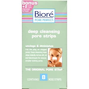 Biore Deep Cleansing Pore Strips, 8 Strips each