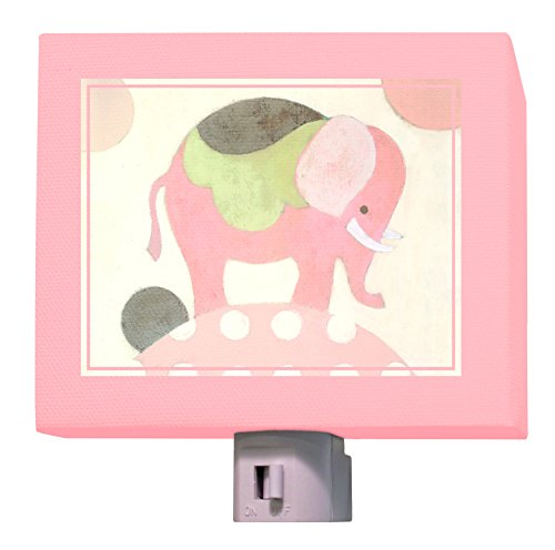 "Oopsy Daisy Ella Elephant Night Light, Pink, 5"" x 4"""