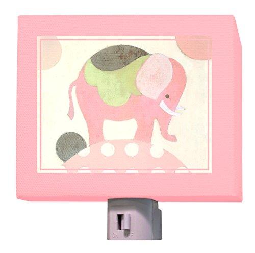 "Oopsy Daisy Ella Elephant Night Light, Pink, 5"" x 4"""