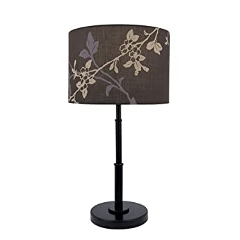 Lite Source LS-21650D/BRZ Table Lamp, Dark Bronze with Colored Fabric Shade