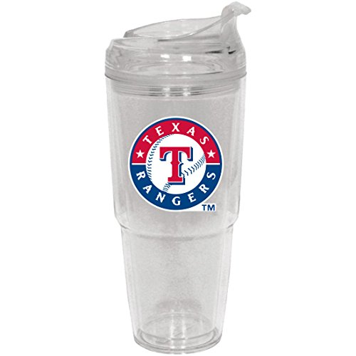 MLB Texas Rangers Insulated Tumbler with Patch, 22 oz., White