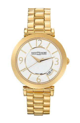 Saint Honore Women's 766111 3BBT Opera Gold PVD White Dial Steel Watch