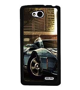 Racing Car 2D Hard Polycarbonate Designer Back Case Cover for LG L90