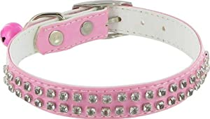 Kakadu Pet Rodeo Drive Rhinestone Dog or Cat Collar with Bell, 1/2