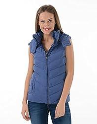 US Polo Women's Cotton Jacket (UWJK0108_Bright Cobalt_M)