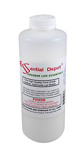 Food Grade Sodium Hydroxide Lye Micro Beads, 2 Lbs.