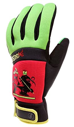 Grenade Bob Gnarly Snowboard Gloves Red