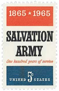 #1267 - 1965 5c Salvation Army U. S. Postage Stamp Plate Block (4)