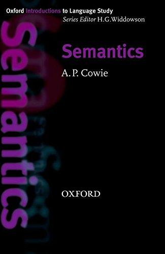 Oxford Introduction to Language Study: Semantics