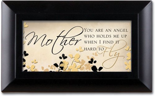 Mother You Are An Angel Inspirational Black Cottage Garden Petite Music Jewelry Box Plays Wonderful World