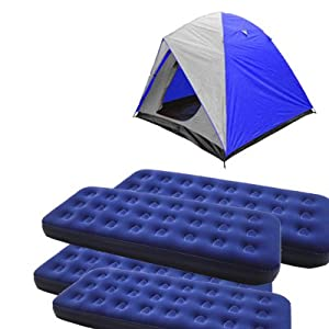 4 Person Dome Tent with 4 Air Mats(single)
