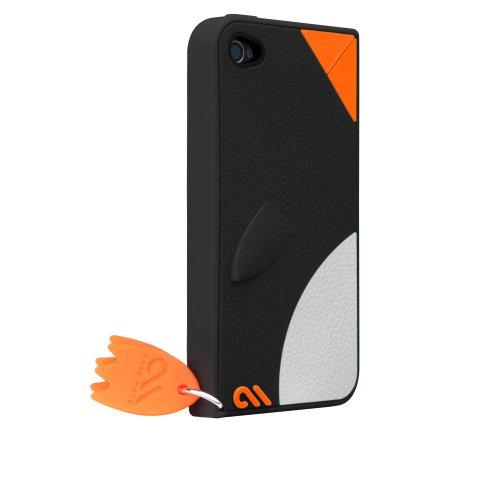 Case-Mate iPhone 4 CREATURES: Waddler Case, Black クリーチャーズ ワドラー ペンギン シリコン ケース, ブラック CM015590
