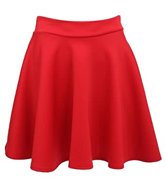 Pilot Ellie Scuba Skater Skirt in Red, 10