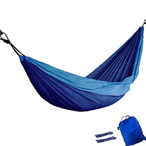 OuTera Portable Parachute Nylon Fabric Travel Double Outdoor Camping Hammocks Weather Resistant Lightweight [ 1 Year Warranty] (1 Year Warranty compare prices)