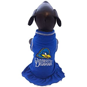 NCAA Delaware Fightin' Blue Hens Cheerleader Dog Dress, X-Small