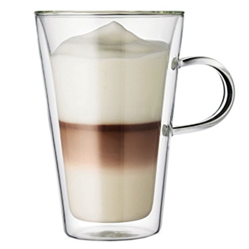 Double Insulated Glass Transparent Cup, Home Office,Cups Milk Cups 400ml
