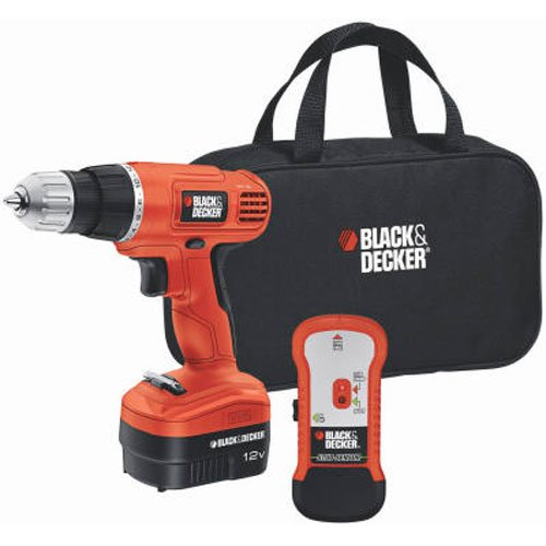 Black-Decker-GCO12SFB-12-Volt-NiCad-38-Inch-Cordless-DrillDriver-with-Storage-Bag-and-Stud-Sensor