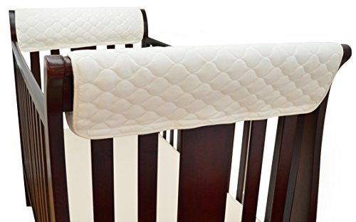 TL Care Organic Cotton Side Crib Rail Covers - 1