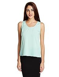 Anaphora Women's Body Blouse Shirt (56129_Mint Green _X-large)