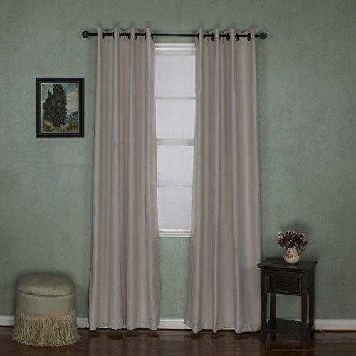 H versailtex classical grommet top room darkening thermal for 108 window treatments