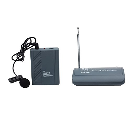 Hotkey SH-600 Professional Transmitter Wireless Microphone Clip-On Mic Receiver Headset Microphone
