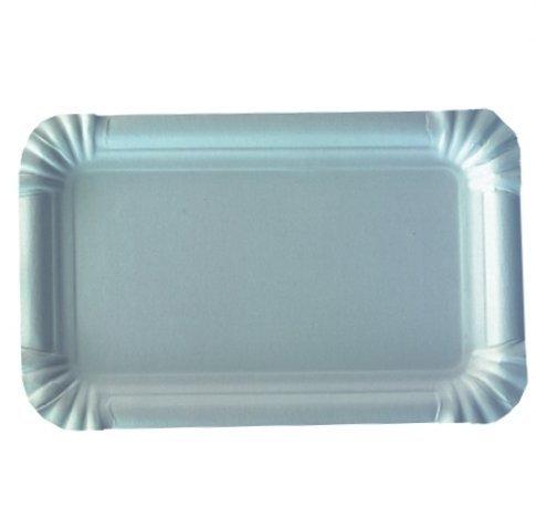 250 Vassoio, Cartone quadrato 9 cm x 15 cm bianco Piatto di carta